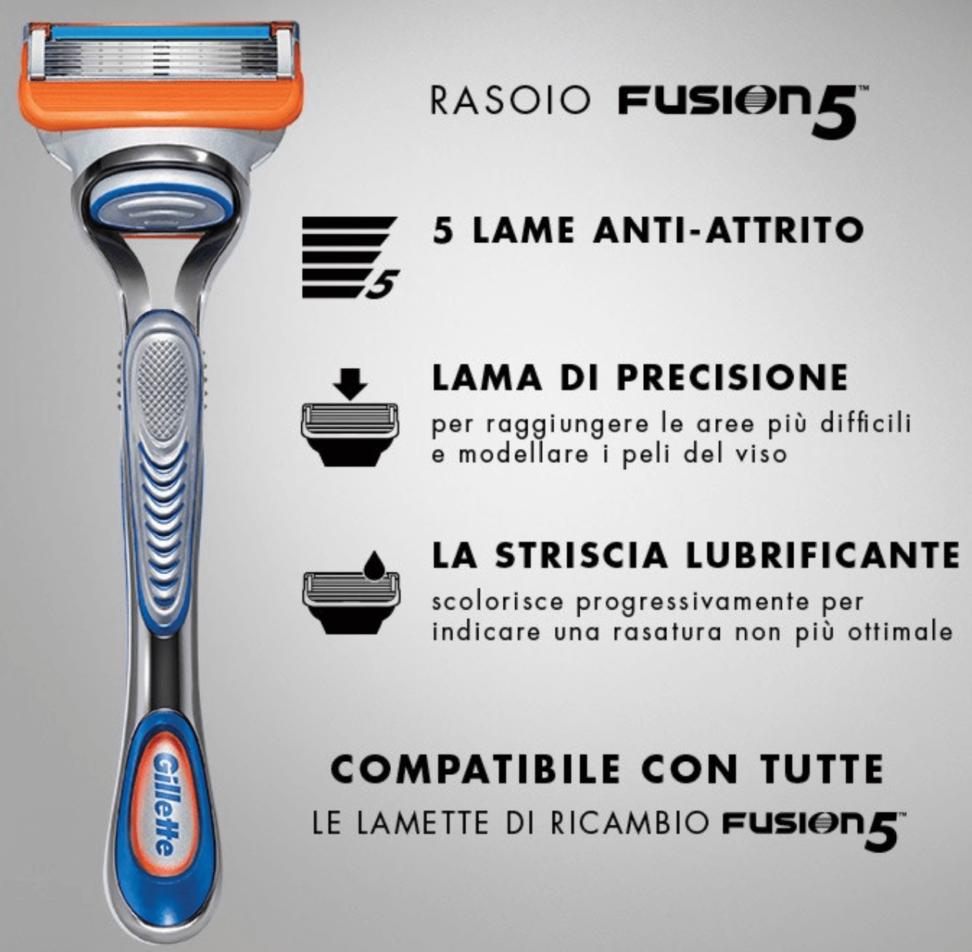 rasoio fusion 5
